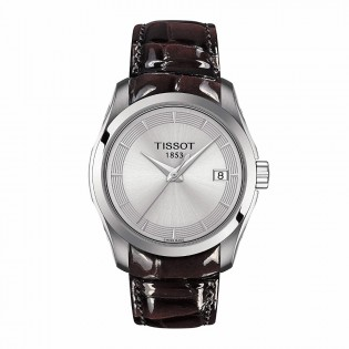 Tissot T035.210.16.031.03 Women's Couturier Lady Swiss Quartz Leather Strap Brown Watch