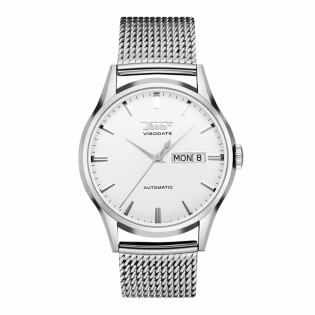 Tissot T019.430.11.031.00 Men's Heritage Visodate Automatic Day Date Mesh Steel Bracelet Man Watch (White)