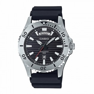 Casio MTD-1087-1AVDF Original Men's Marine Sports Diver Quartz Day Date Display Resin Band Watch MTD-1087-1A