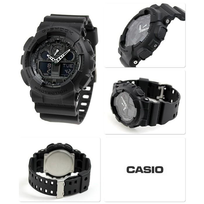 7f9de007b92 Casio G-Shock GA-100-1A1DR Original Men s Standard Digital Analog Full  Black Resin Watch GA-100-1A1