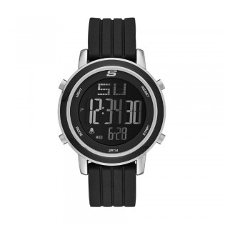 Skechers SR6012 Women's Digital Stainless Steel Black Silicone Strap Girl Watch