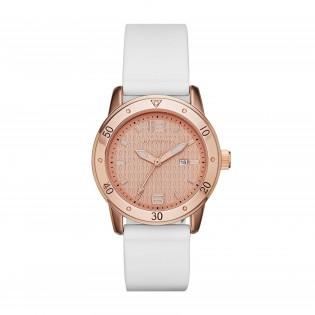 Skechers SR6053 Women's Quartz Analog Rose Gold Steel White Silicone Strap Watch