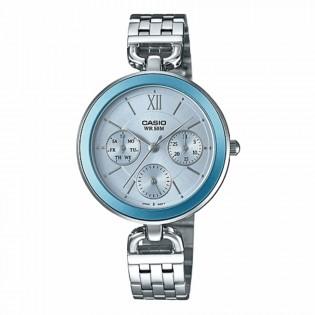 Casio LTP-E406D-2AVDF Original Women's Enticer Multifunction Day and Date Steel Watch LTP-E406D-2A
