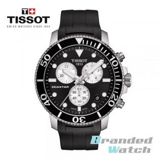 Tissot T120.417.17.051.00 Men's Seastar 1000 Chronograph Quartz Diver Rubber Strap Watch