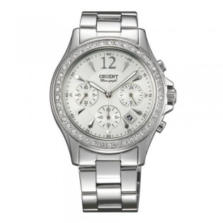 Orient CTW00004W Woman Dressy Chronograph Quartz Stainless Steel Watch TW00004W
