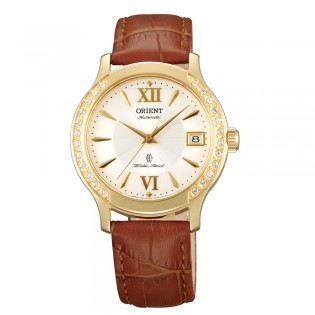 Orient CER2E003W Woman Automatic Sapphire Crystal Leather Strap Dress Watch ER2E003W