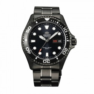 Orient FAA02003B Man Ray Raven II Automatic Diver Black Ion Plated Steel Watch AA02003B