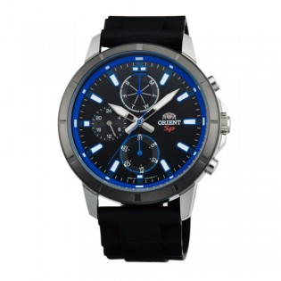 Orient CUY03004B Man SP Sporty Quartz Multifunction Day and Date Rubber Strap Watch UY03004B