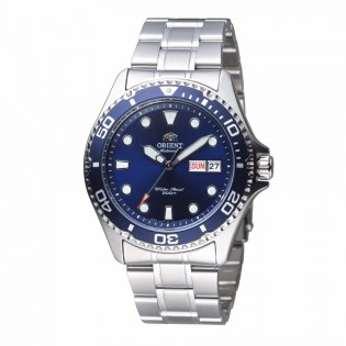 Orient FAA02005D Man Ray II Automatic Diver 200 Meters Stainless Steel Watch AA02005D