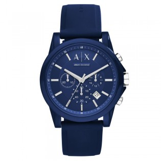 Armani Exchange AX1327 Men's Outerbanks Chronograph Silicone Strap Watch