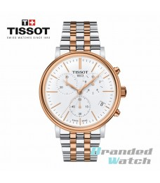 Tissot T122.417.22.011.00 Men's Carson Premium Chronograph Swiss Made Rose Gold Stainless Steel Man Watch