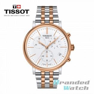 Tissot T122.417.22.011.00 Men's Carson Premium Chronograph Swiss Made Rose Gold Stainless Steel Man Watch