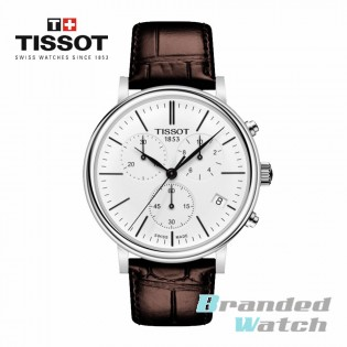 Tissot T122.417.16.011.00 Men's Carson Premium Chronograph Swiss Made Leather Strap Man Watch