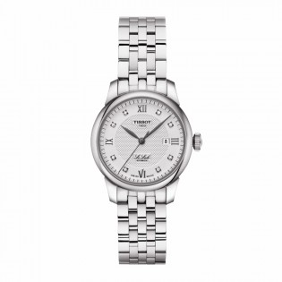 Tissot T006.207.11.036.00 Women's Le Locle Automatic 29mm Diamond Index Swiss Made Steel Woman Watch