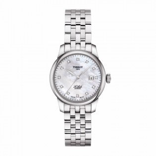 Tissot T006.207.11.116.00 Women's Le Locle Automatic 29mm Diamond Index Swiss Made Pearl Dial Steel Woman Watch