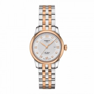 Tissot T006.207.22.036.00 Women's Le Locle Automatic 29mm Diamond Index Swiss Made Steel Woman Watch