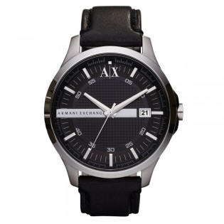 Armani Exchange AX2101 Men's Dress Quartz Leather Strap Watch