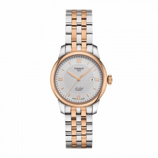 Tissot T006.207.22.038.00 Women's Le Locle Automatic 29mm Diamond Index Swiss Made Pearl Dial Steel Woman Watch