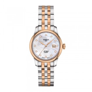 Tissot T006.207.22.116.00 Women's Le Locle Automatic 29mm Diamond Index Swiss Made Pearl Dial Steel Woman Watch