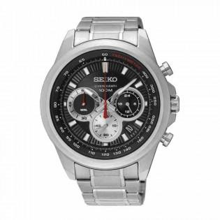 Seiko SSB241P1 Men's Sport Chronograph Quartz Tachymeter Stainless Steel Man Watch
