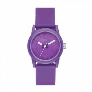 Skechers SR6034 Women's Rosencrans Mini Quartz Purple Silicone Strap Kids Watch