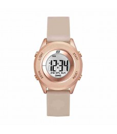 Skechers SR6127 Women's Wesport Quartz Digital Rose Gold Plastic Silicone Strap Watch