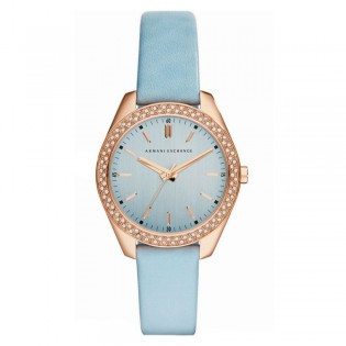 Armani Exchange AX5522 Women's Active Quartz Leather Strap Watch
