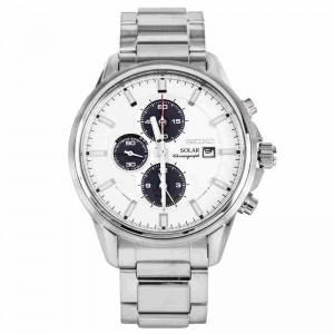 Seiko SSC251P1 Men's Sports Solar Powered Chronograph Alarm Stainless Steel Dress Watch