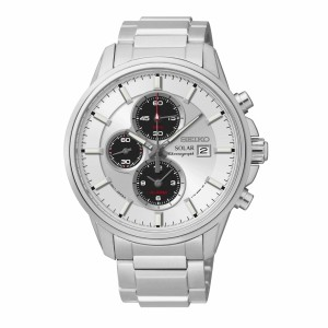 Seiko SSC251P1 Men's Sports Solar Powered Chronograph Alarm Stainless Steel Dress Watch