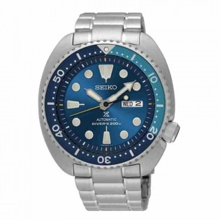 Seiko SRPB11K1 Men's Prospex Limited Edition Blue Lagoon Turtle Automatic Diver Stainless Steel Watch