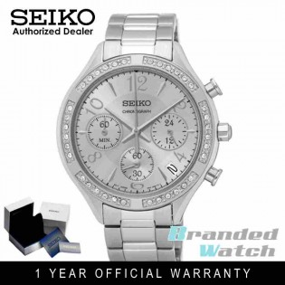 Seiko SSB899P1 Women's Chronograph Stainless Steel Dress Watch