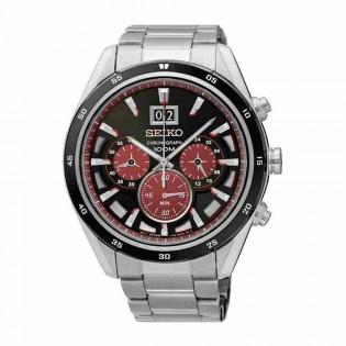 Seiko SPC213P1 Men's Criteria Chronograph Date Display Stainless Steel Watch