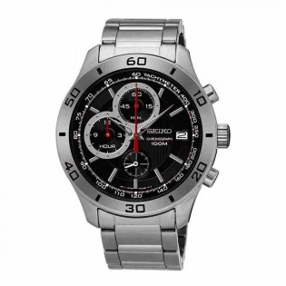 Seiko SSB187P1 Men's Chronograph Date Display Stainless Steel Gent Watch