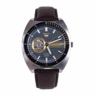 Seiko SSA333K1 Men's Seiko 5 Automatic Open Heart Leather Strap Gent Watch
