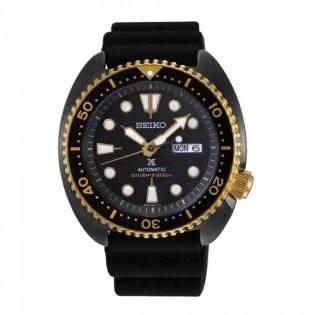 Seiko SRPD46K1 Men's Prospex Special Edition Black Gold Turtle Automatic Diver Silicone Strap Watch