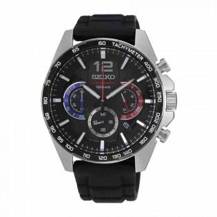 Seiko SSB347P1 Men's Neo Sport Chronograph Silicone Band Watch