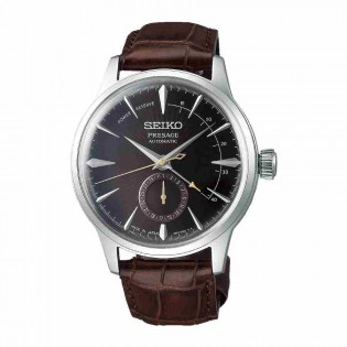 Seiko SSA393J1 Men's Presage Cocktail Automatic Power Reserve Indicator Leather Band Watch
