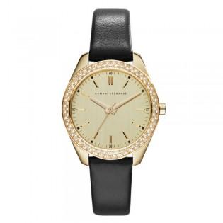 Armani Exchange AX5507 Women's Sarena Quartz Leather Strap Watch