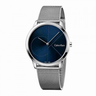 Calvin Klein CK K3M2112N Men's Minimal 40mm Large Quartz Analog Mesh Steel Bracelet Fashion Dress Watch