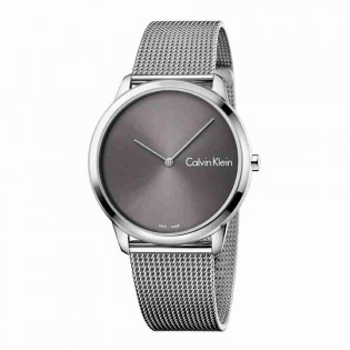 Calvin Klein CK K3M211Y3 Men's Minimal 40mm Large Quartz Analog Mesh Steel Bracelet Fashion Dress Watch