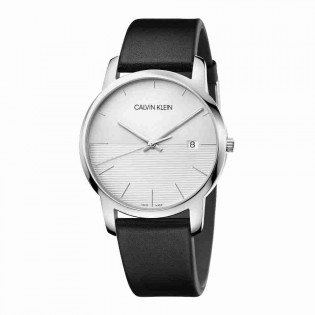 Calvin Klein CK K2G2G1CD Men's City 43mm Quartz Analog Date Display Leather Fashion Watch