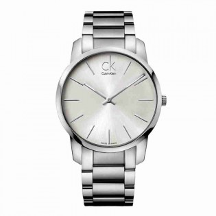 Calvin Klein CK K2G21126 Men's City 43mm Quartz Analog Stainless Steel Fashion Dress Watch