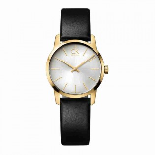Calvin Klein CK K2G23520 Women's City 30mm Quartz Analog Leather Strap Fashion Dress Watch