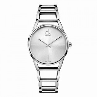 Calvin Klein CK K3G23126 Women's Stately 33mm Quartz Stainless Steel Dress Watch