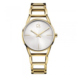 Calvin Klein CK K3G23526 Women's Stately 33mm Quartz Gold Plated Steel Dress Watch