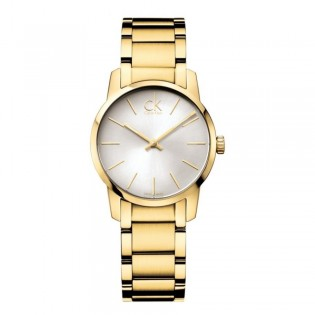 Calvin Klein CK K2G23546 Women's City 31mm Quartz Gold Plated Steel Dress Fashion Watch