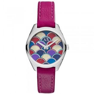 Armani Exchange AX5523 Women's Sarena Quartz Leather Strap Watch