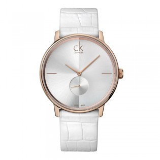 Calvin Klein CK K2Y216K6 Unisex Accent 41mm Quartz Leather Strap Fashion Watch