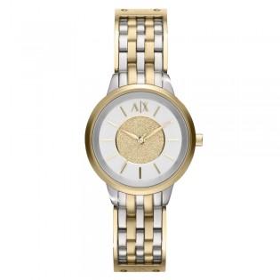 Armani Exchange AX5350 Women's Olivia Quartz 2 Toned Steel Watch