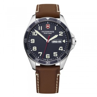 Victorinox Swiss Army 241848 Men's Fieldforce Quartz Day And Date Display Leather Swiss Made Watch